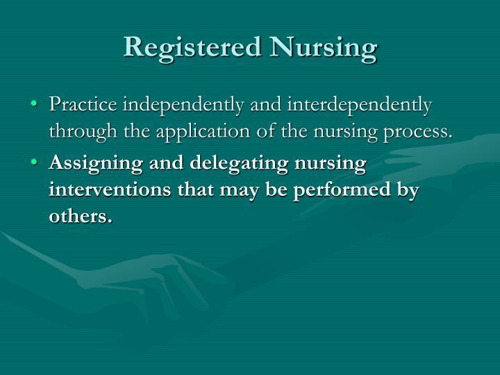 Registered Nursing