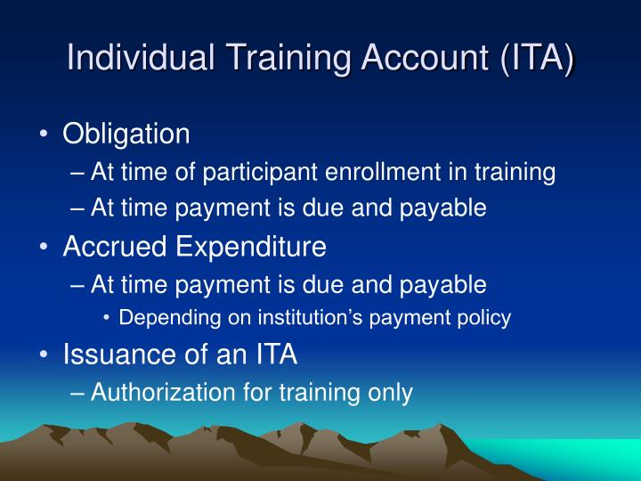 Individual Training Account (ITA)