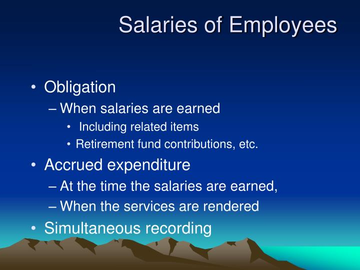 Salaries of Employees