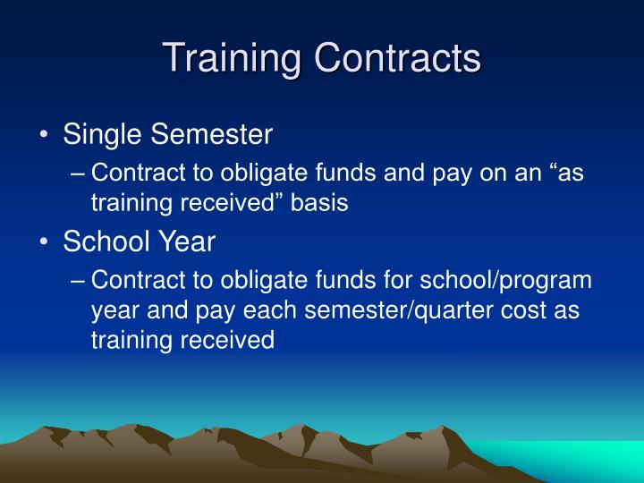 Training Contracts