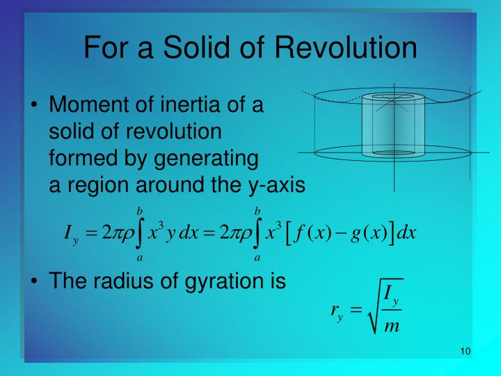 For a Solid of Revolution