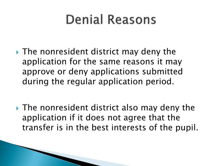 Denial Reasons