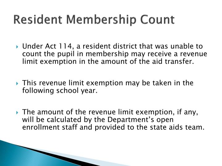 Resident Membership Count