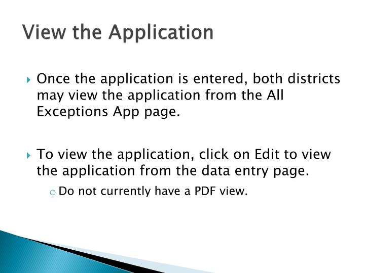 View the Application