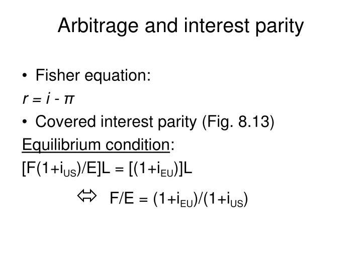 Fisher equation: