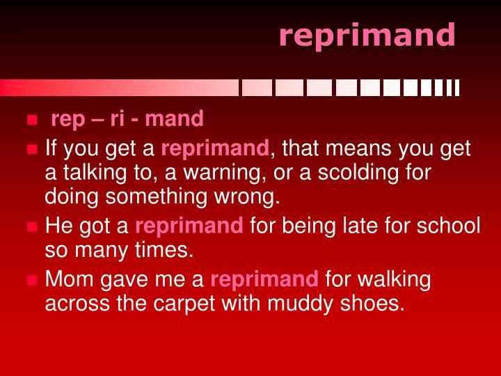 reprimand