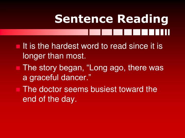Sentence Reading