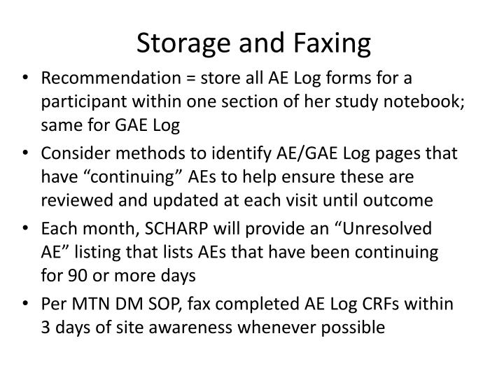 Storage and Faxing