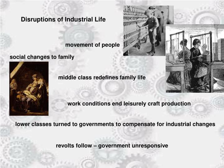 Disruptions of Industrial Life
