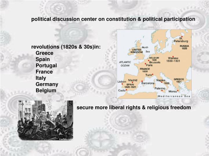 political discussion center on constitution & political participation