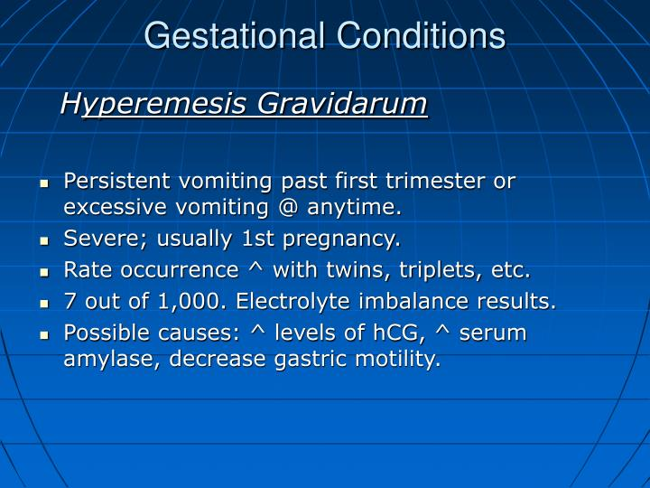 Gestational Conditions