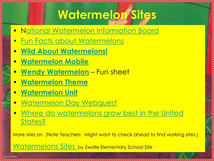 Watermelon Sites