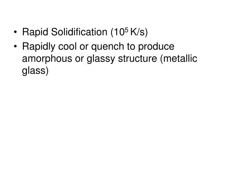 Rapid Solidification (10