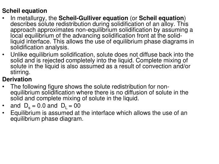 Scheil equation