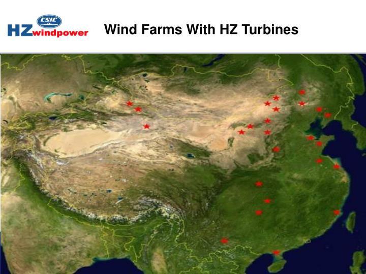 Wind Farms With HZ Turbines