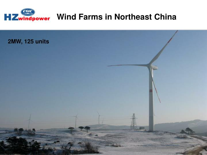 Wind Farms in Northeast China