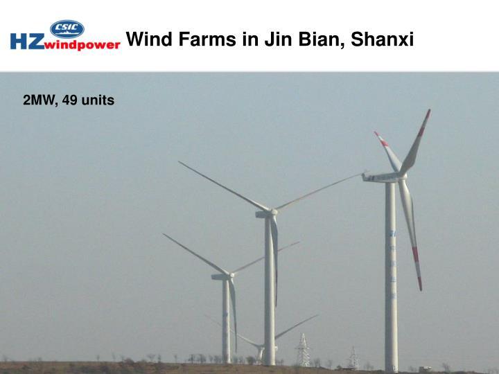 Wind Farms in Jin Bian, Shanxi