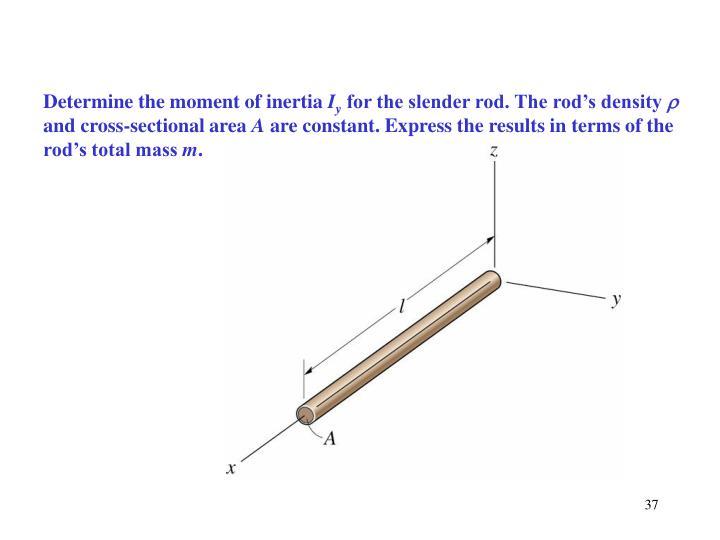Determine the moment of inertia