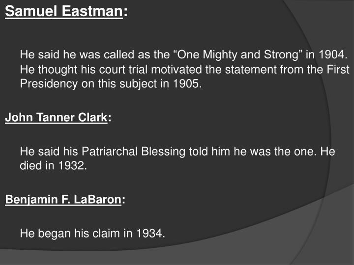 Samuel Eastman