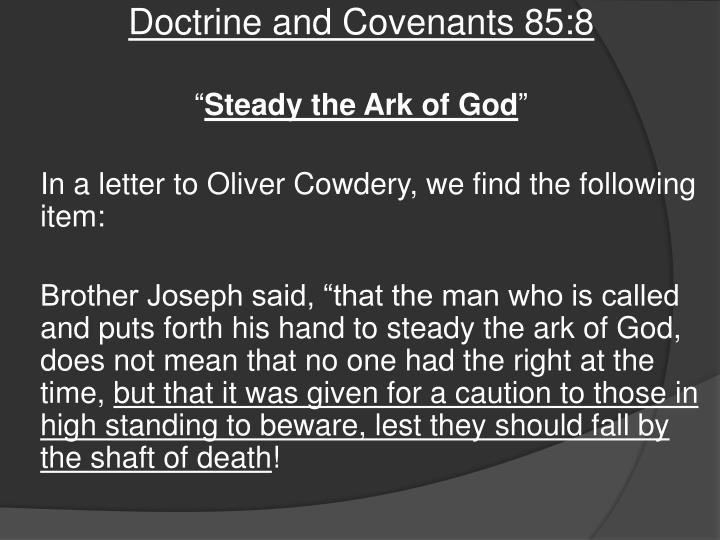Doctrine and Covenants 85:8