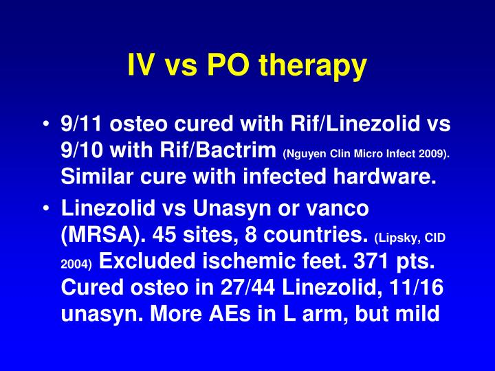 IV vs PO therapy