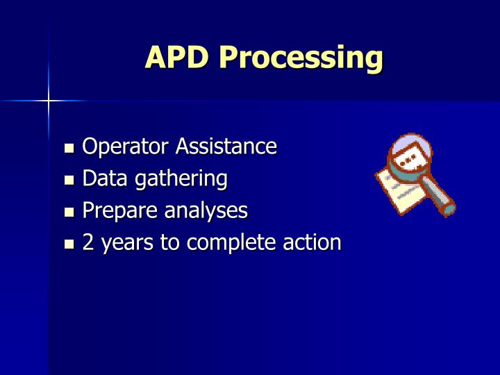 APD Processing