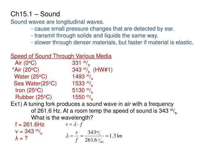 Ch15.1 – Sound