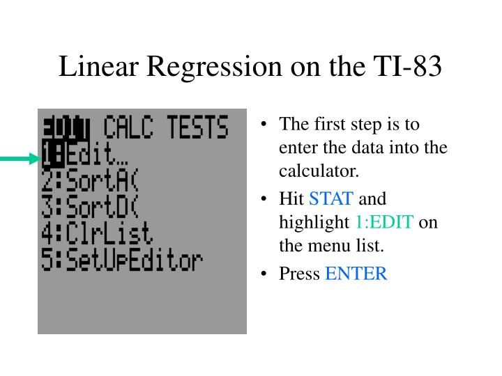 Linear Regression on the TI-83