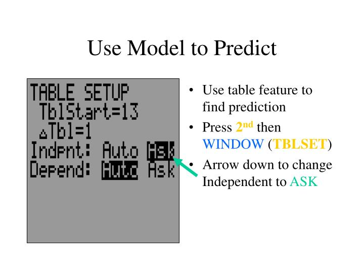 Use Model to Predict