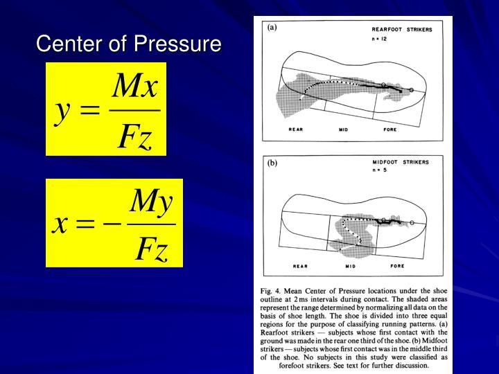 Center of Pressure