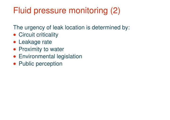 Fluid pressure monitoring (2)