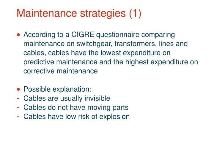Maintenance strategies (1)