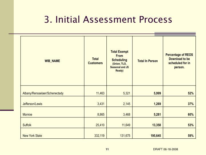 3. Initial Assessment Process