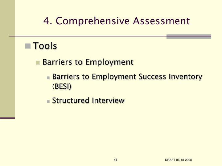 4. Comprehensive Assessment