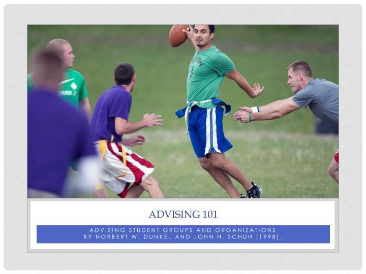 Advising 101