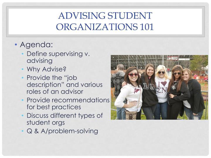 Advising student