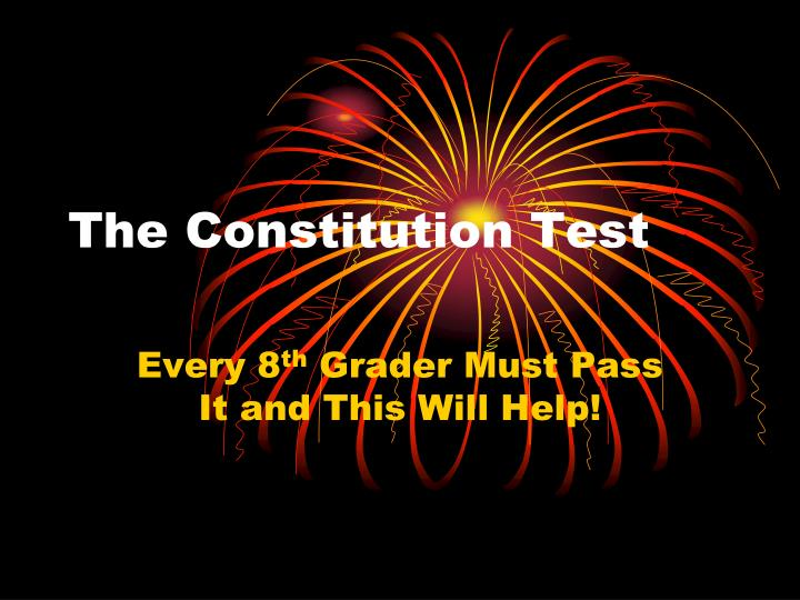 The constitution test