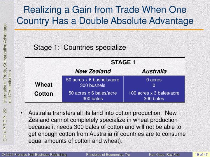 Realizing a Gain from Trade When One Country Has a Double Absolute Advantage