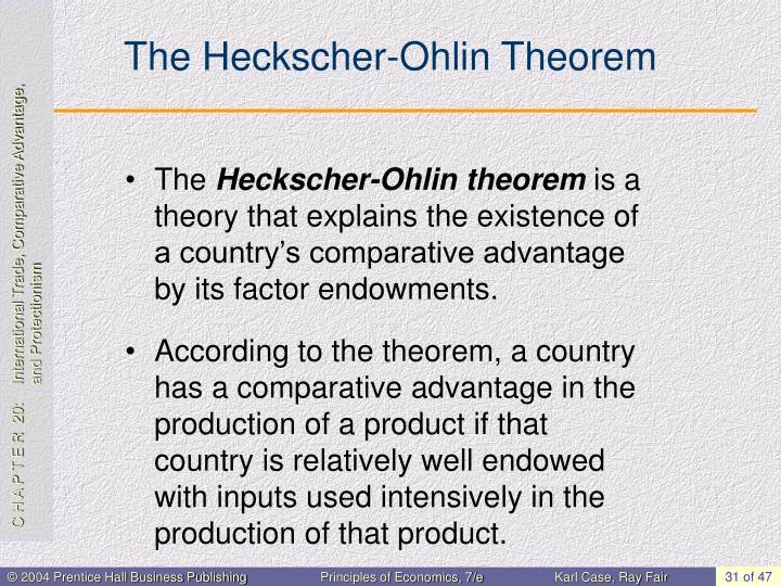 The Heckscher-Ohlin Theorem