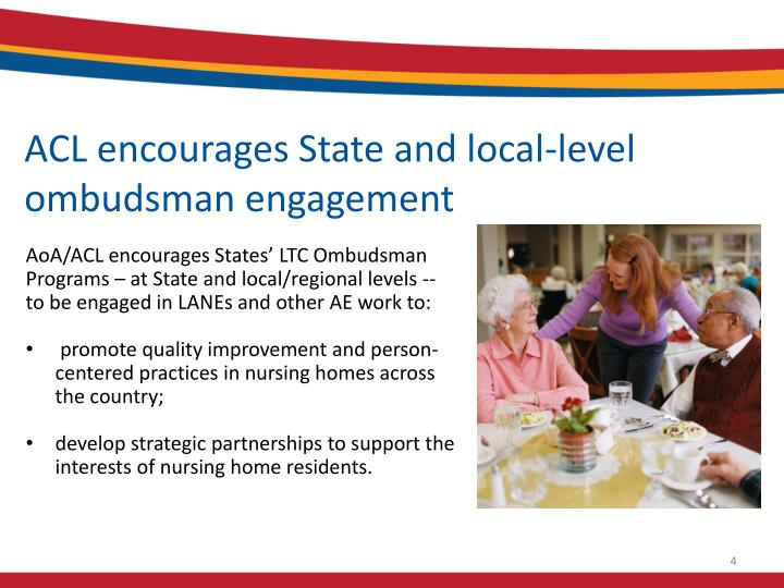 ACL encourages State and local-level ombudsman engagement