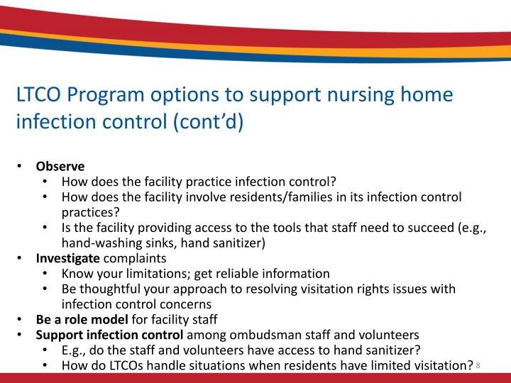 LTCO Program options to support nursing home infection