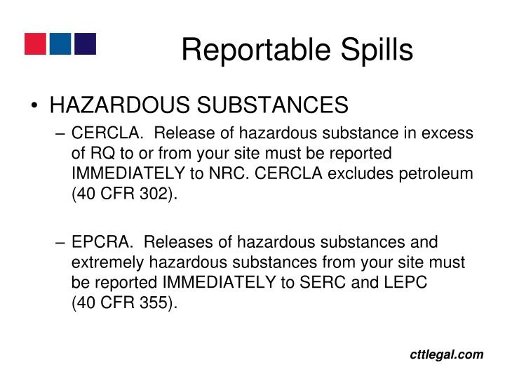 Reportable Spills