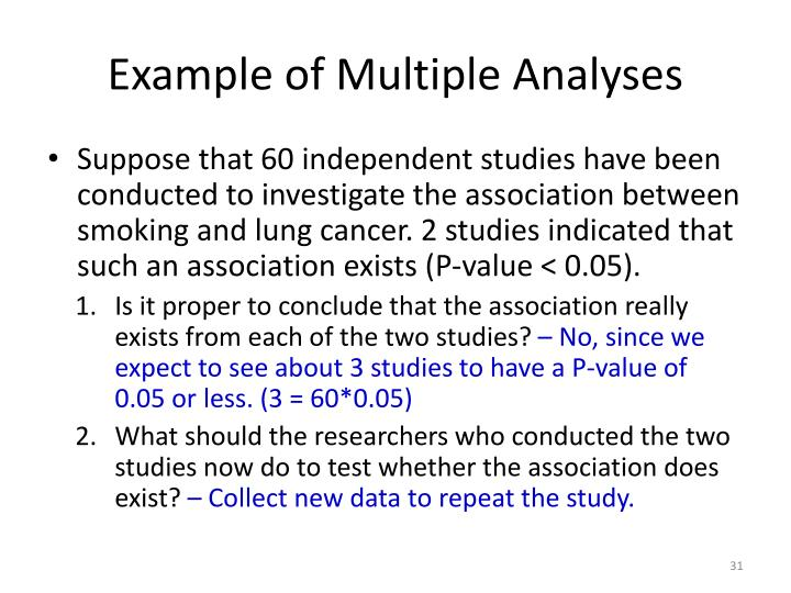 Example of Multiple Analyses