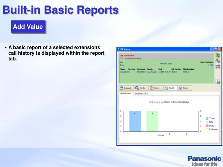 Built-in Basic Reports