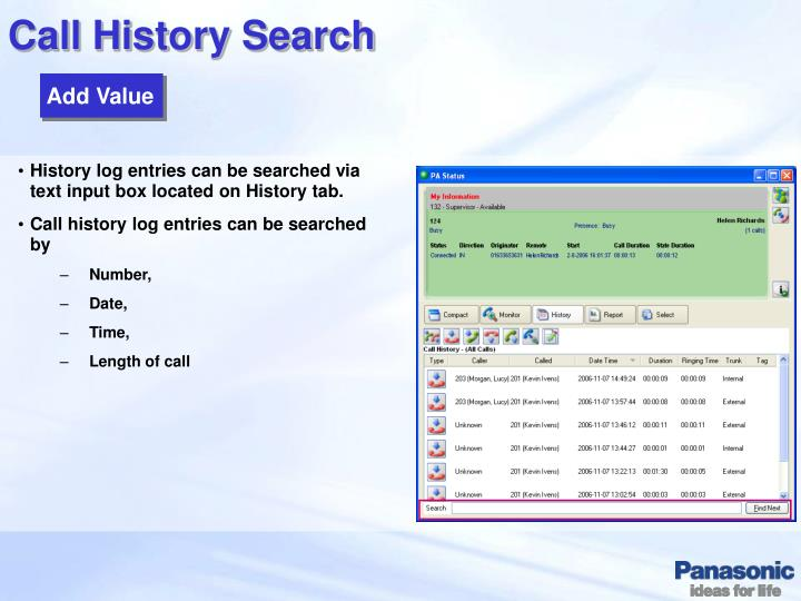 Call History Search