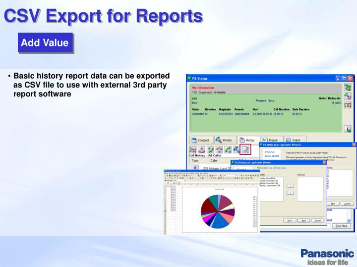 CSV Export for Reports