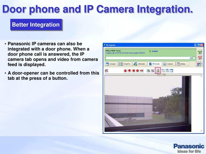 Door phone and IP Camera Integration.
