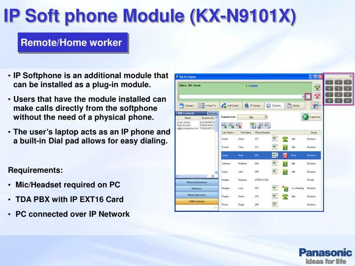 IP Soft phone Module (KX-N9101X)