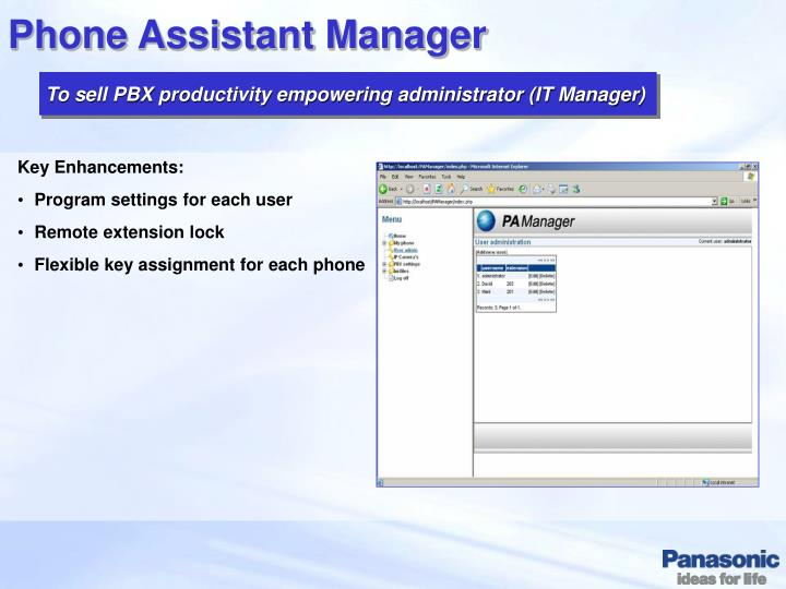 Phone Assistant Manager