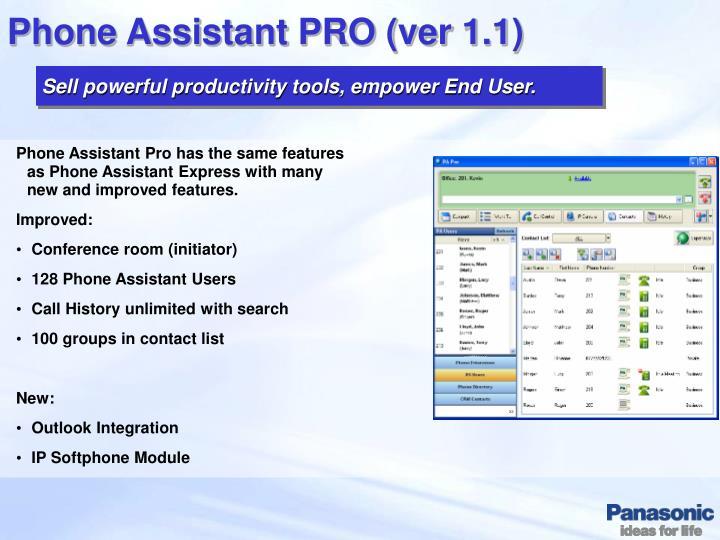 Phone Assistant PRO (ver 1.1)
